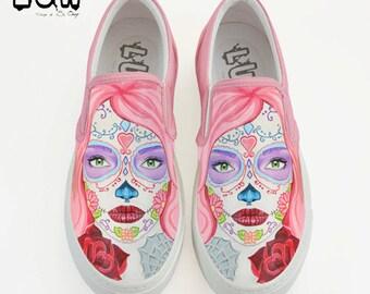 00aef339aebf CALAVERA SLIP-ON - sugar skull design shoes