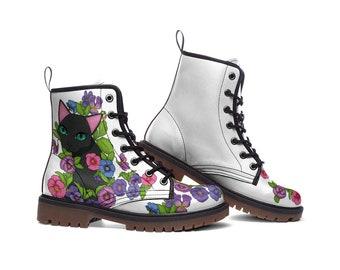 FELES | Boots (custom design boots, violet, black cat boots)