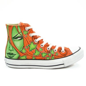 Custom design converse comics shoe hand