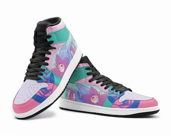 EQU FAIRY | Sneakers - custom sneakers - colorful shoes - floral sneakers- pastel sneakers - custom design shoes