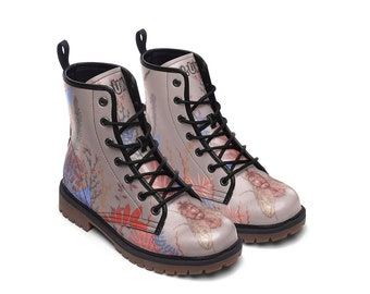 DIPTERA | Boots (custom design boots, wild flowers, pastel color boots)