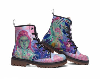 EQU FAIRY BOOTS | pastel color boots - custom paint boots - aesthetic boots - custom design boots