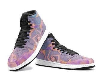 SPILLED STARS | Sneakers (custom sneakers, galaxy shoes, purple sneakers)