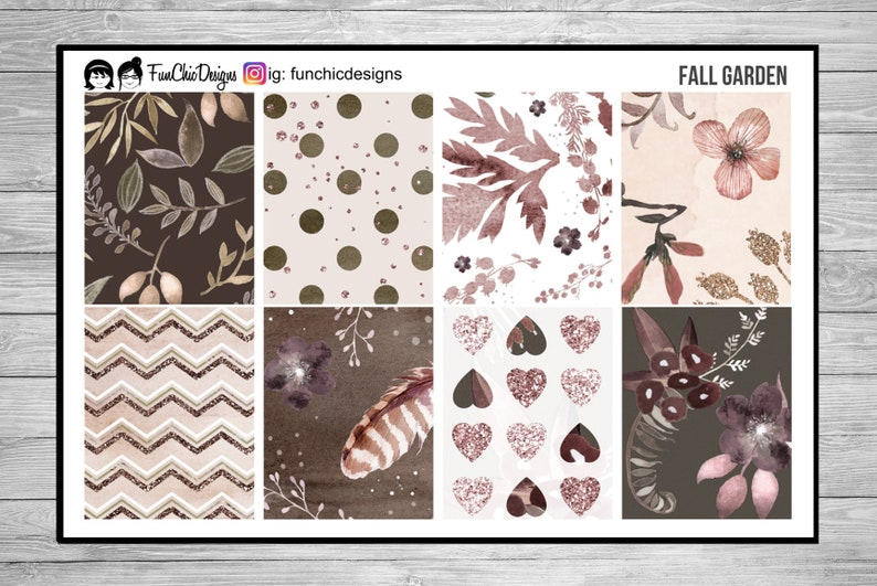 Fall Garden Weekly Planner Kit image 0