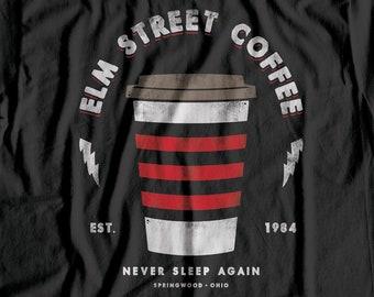 f58ed8aba1b Elm Street Coffee - A Nightmare On Elm Street   Horror   Freddy Krueger T  Shirt