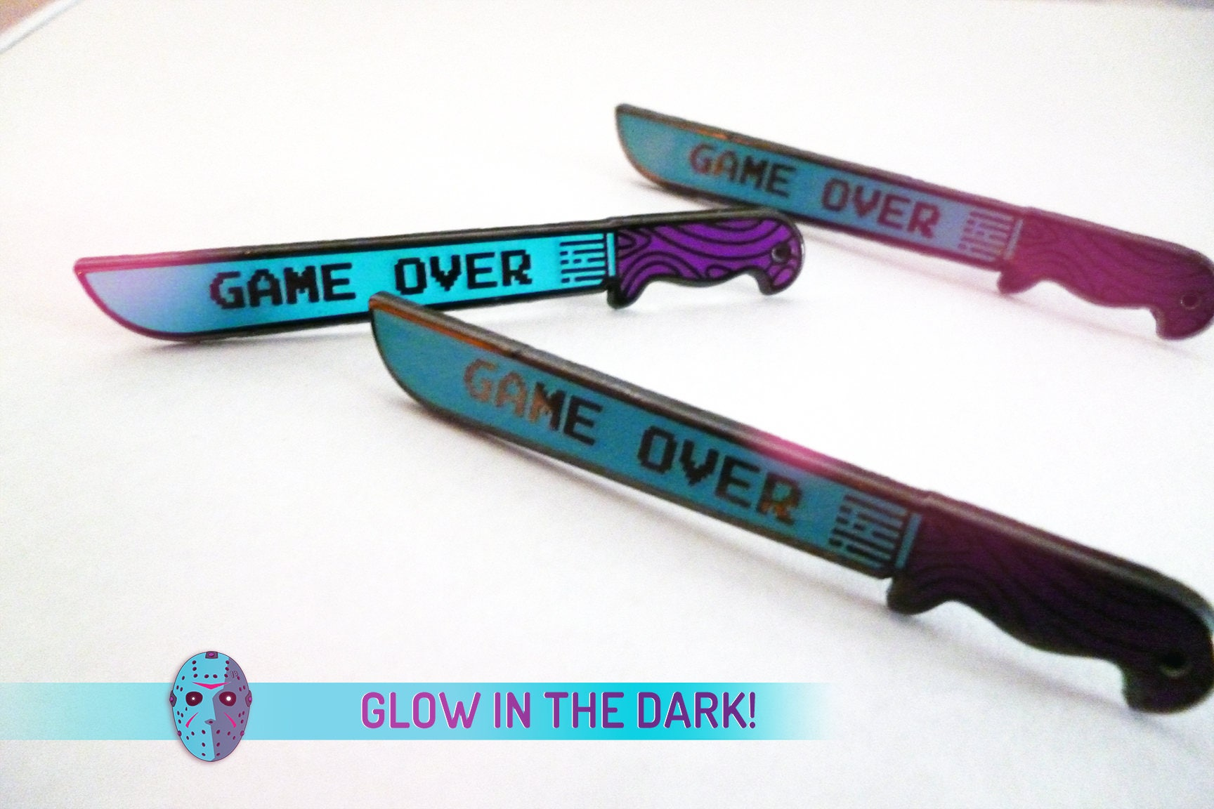 GAME OVER Friday the 13th NES 8-Bit glow in the dark / hard
