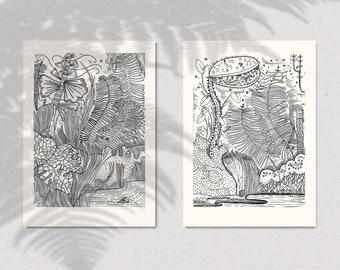 Illustration Diptyque Screen Print