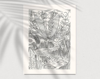 Jungle Poster Screen Print