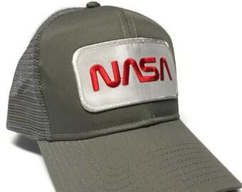 55137ab55e2 FREE Shipping - NASA Cotton Twill 6 Panel Mesh Back Cap