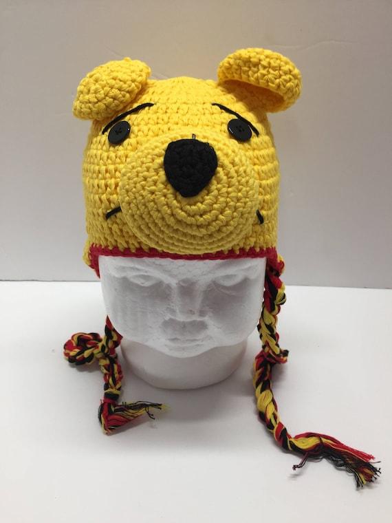 Winnie lourson ours Bonnet en crochet chapeau Winnie   Etsy 6536c22add6