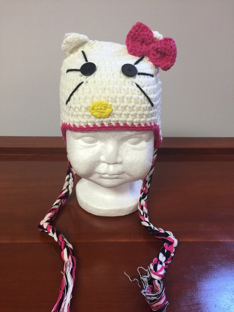 a777cf863 White cat hat cat costume cat crochet hatWhite hello kitty | Etsy