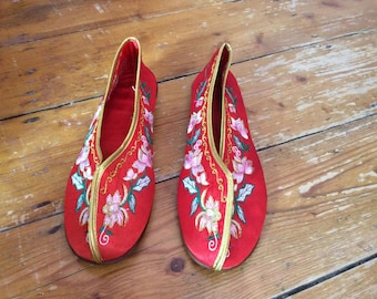 Vintage Chinese Slippers - Size 37 (4)