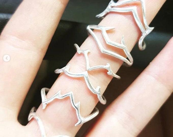 Warrior Princess Stack Ring Sterling Silver