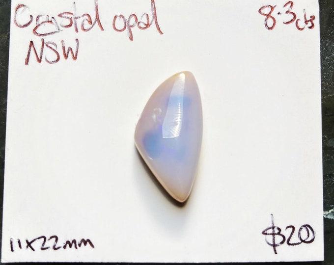 Freeform Australian crystal opal cabochon