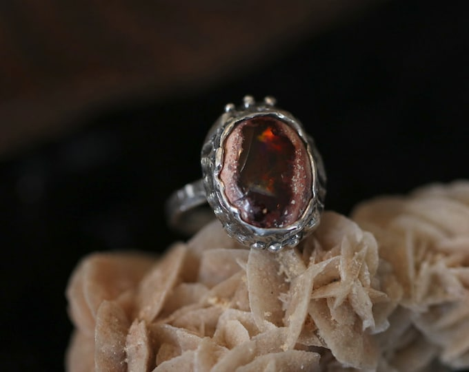 Mexican Cantera Opal and Sterling Silver Ring