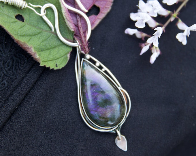 Epic Purple Labradorite Pendant.