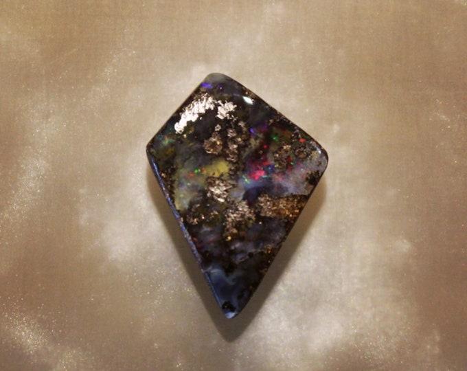 Freeform Solid Queensland Boulder Opal Cabochon