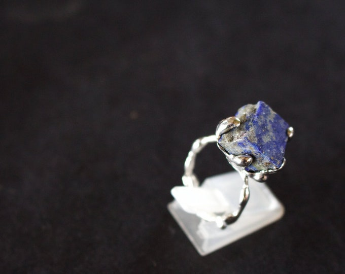 Lapis Lazuli and Sterling Silver Ring.