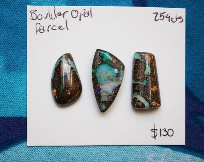 Boulder opal cabochon parcel