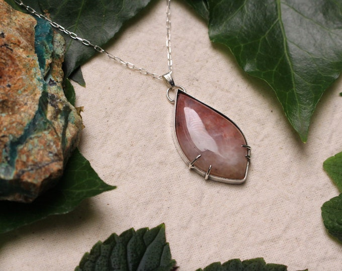 Australian Chalcedony Mix and Recycled Sterling Silver Pendant