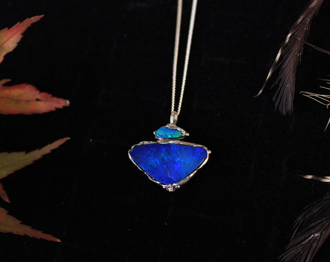 Recycled Sterling Silver and Australian Opal Pendant.
