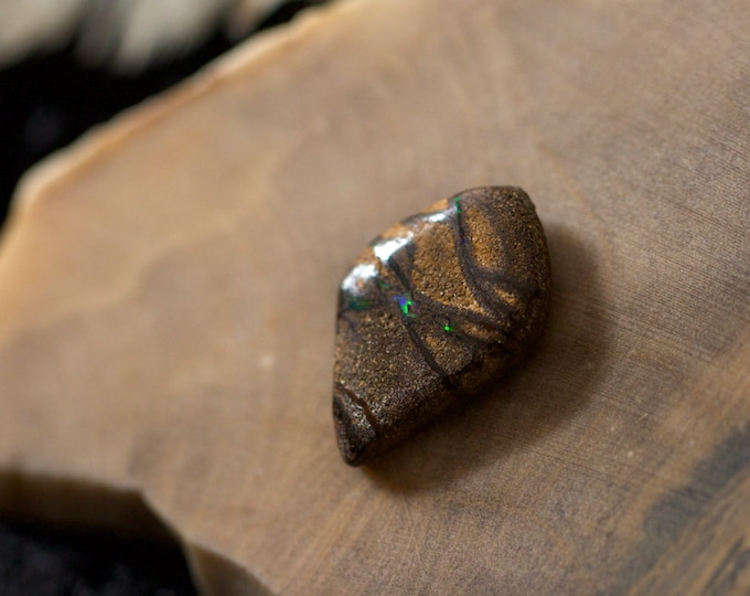Freeform Australian Koroit boulder opal Cabochon