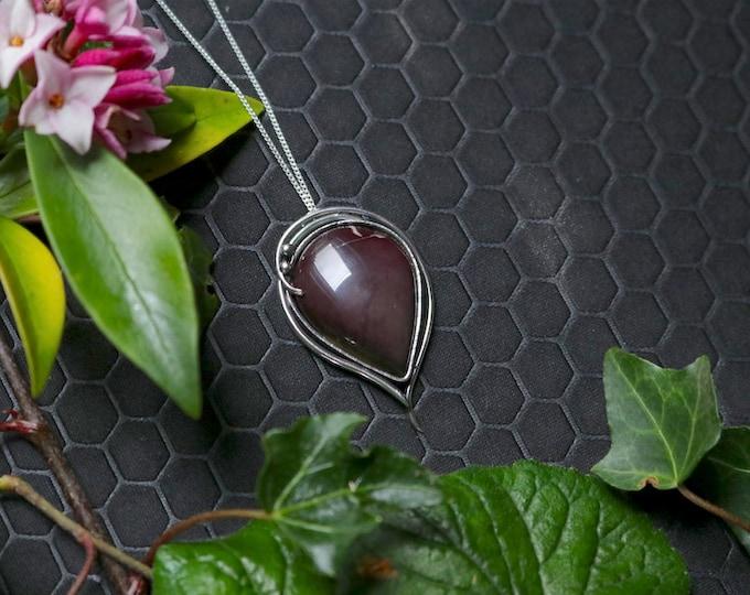 Purple Pear Shaped Australian Mookaite Pendant