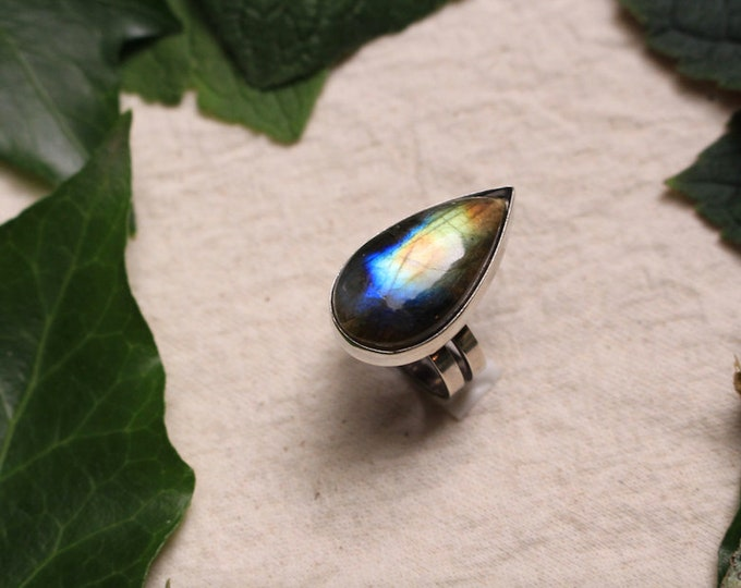 Epic Labradorite and Recycled Sterling Silver Ring