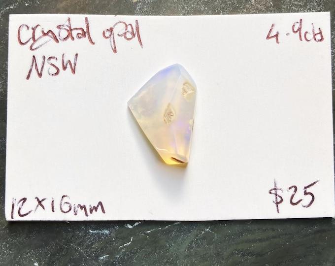 Freeform faceted Australian crystal opal