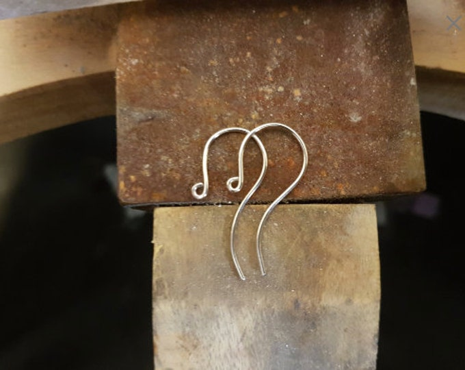 75 x pairs 925 Sterling Silver Earring Hook Finding, Small Round.