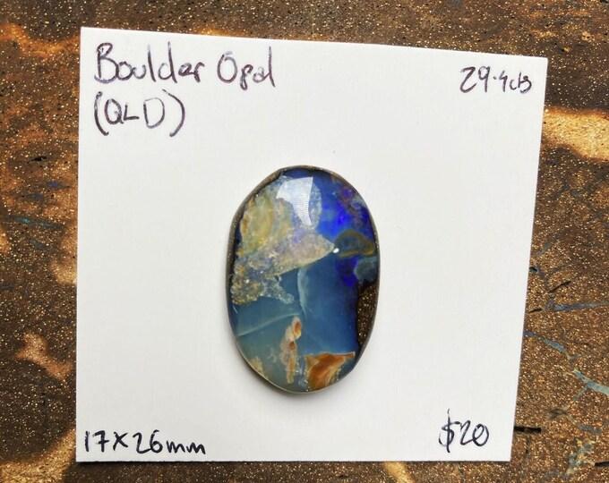 Large purple boulder opal (cracked face)
