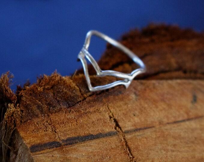 Warrior Princess Stack Ring Sterling Silver Haken