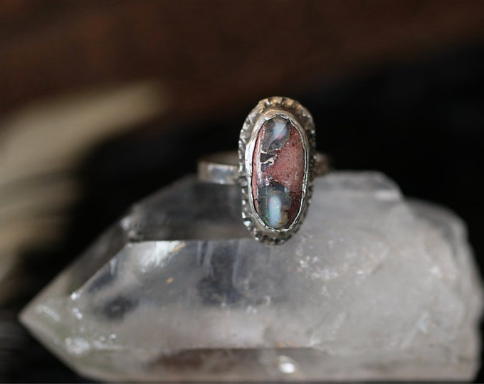 Mexican Cantera Opal and Sterling Silver Ring.