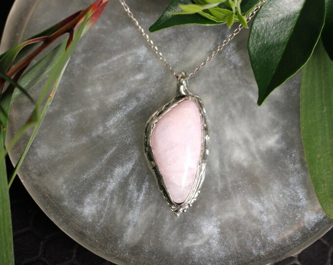 Mangano Calcite and Sterling Silver Pendant