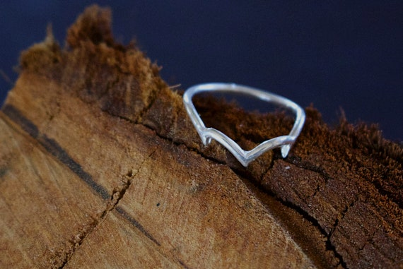 Warrior Princess Stack Ring Sterling Silver Haken Etsy