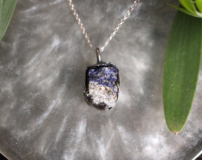 Lapis Lazuli and Sterling Silver Pendant.