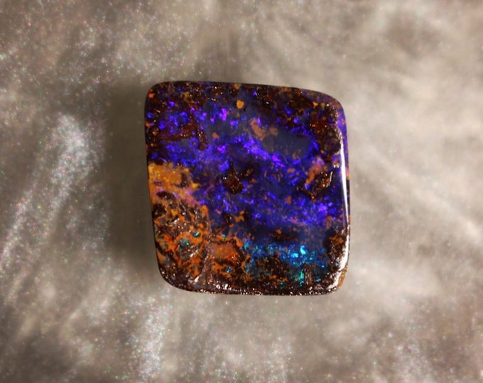 Square Purple Boulder Opal Cabochon