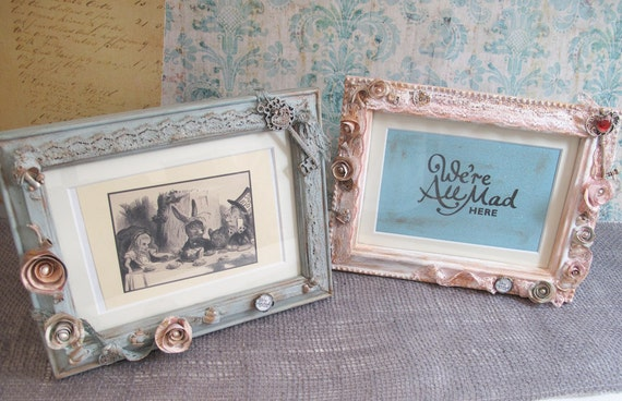 5x7 Alice In Wonderland Picture Frame Decor Mad Hatter Etsy