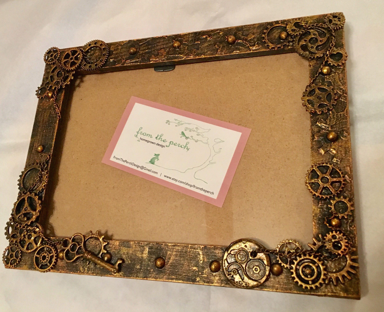 Steampunk picture frame, Steampunk photo frame, steampunk Christmas ...