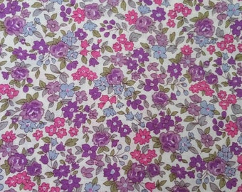 e46092f4a20 Tissu à la coupe par 10 cm - coton fleuri - FROU FROU - fleurs - couture -  vêtements - accessoires - Nina mauve