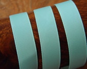 Polyester Ribbon - grosgrain - 16 - lace - sold by 25 cm - COL25 - FROU FROU - lagoon blue