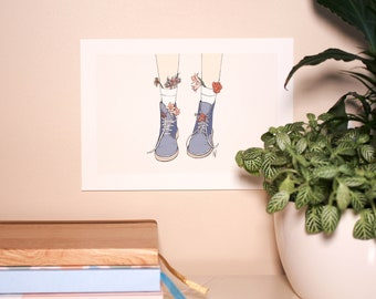 Boots A5 Art Print • Giclee Print • Hand Drawn Illustration