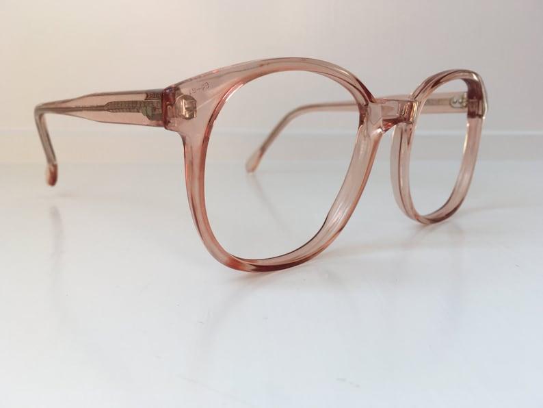 126f6995ef Vintage Pink Eyeglass Frames Oversized Eyeglasses Copper
