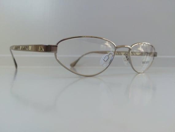 99ac84494c Vintage Eyeglass Frames Silver Oval Eyeglasses Geometric