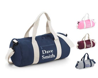 personalized gym bag etsy