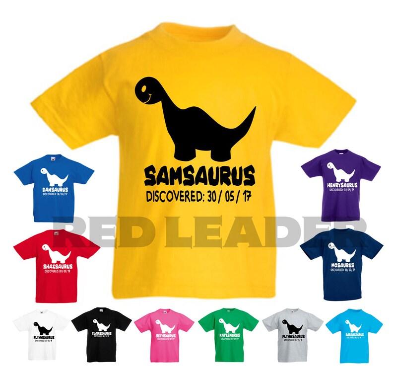 f31279387 Personalised Kids Dinosaur T-Shirt Great Birthday Gift Boys