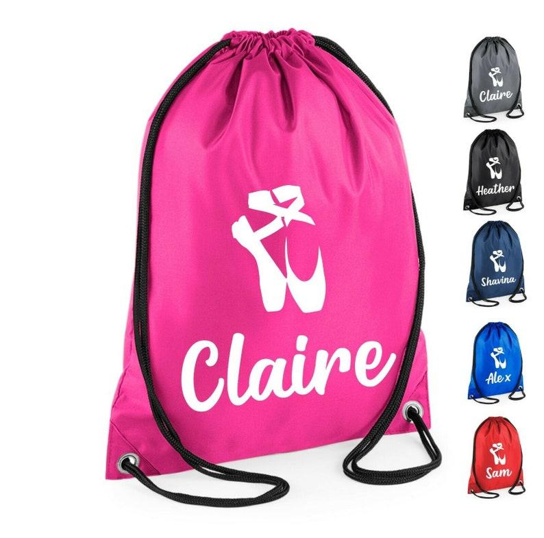 Personalised Drawstring Bag School Unicorn Backpack PE Swim Shoe Kids Dance