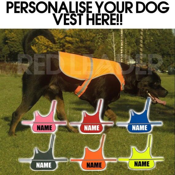 DOG TRAINING YELLOW PINK HI VIZ VIS WAISTCOAT VEST SAFETY DOG CANINE JACKET