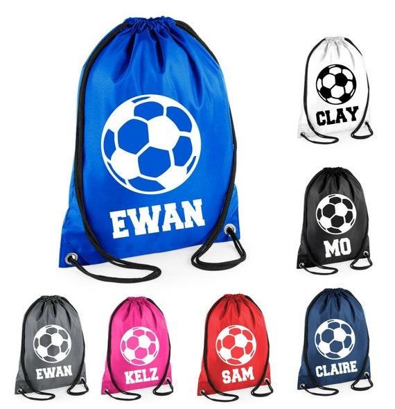 Personalised Kids Gym Bag Drawstring Cotton Sport Vinyl PE Back To School