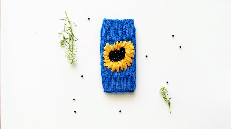separation shoes 49cfc be92c Sunflower Embroidered Phone Case,Beaded Phone Pouch,Knit Phone Case,Knit  Cases for Apple iPhone 6, 6S,7, 8,Samsung Galaxy S4, S5, S6, S7, S8